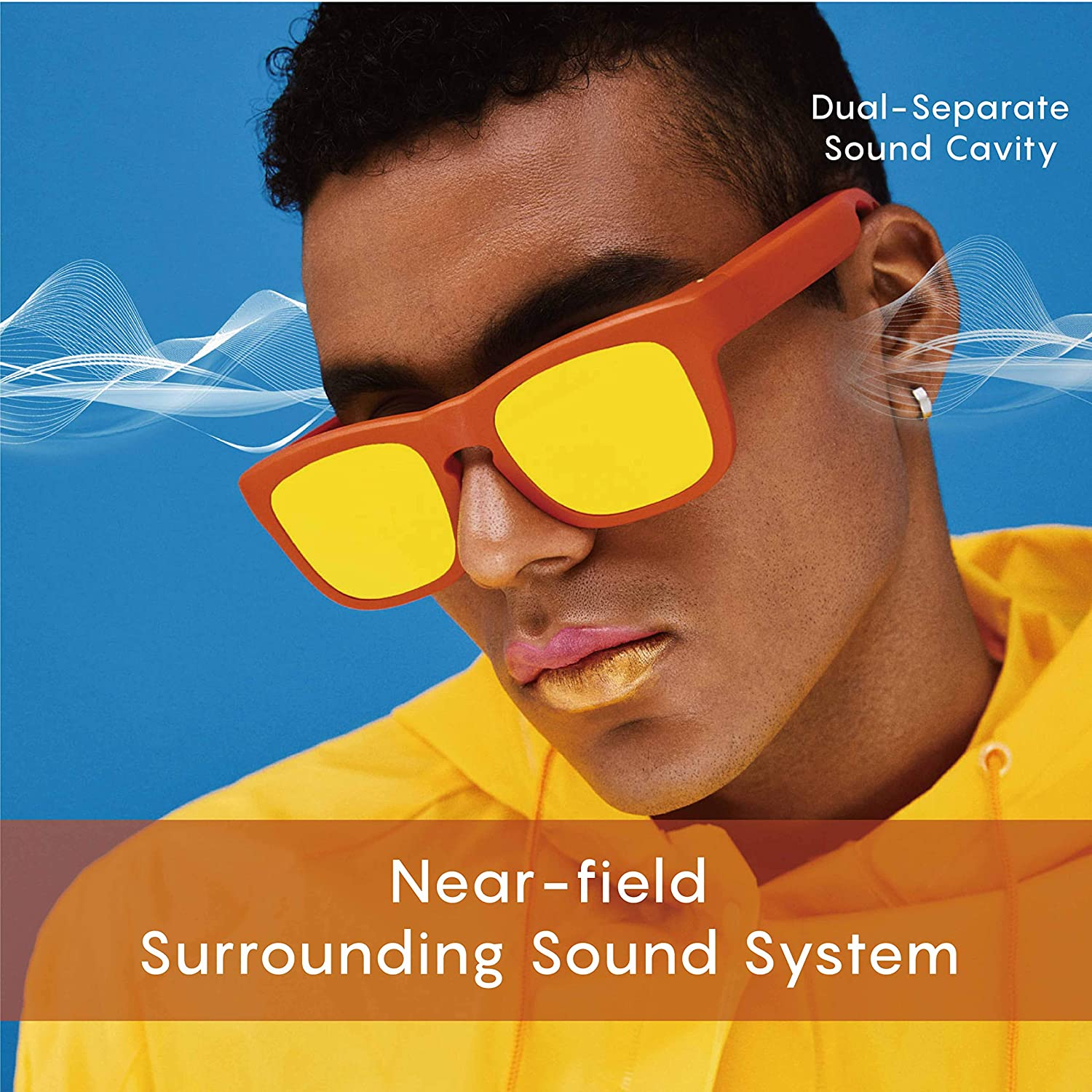 958017266f Audio Bluetooth Sunglasses for Men - Mutrics Stylish Smart Music Sunglasses  with Virtual 5.1 Surround Sound, Hands Free Call, AI Voice Control, UV 400  ...