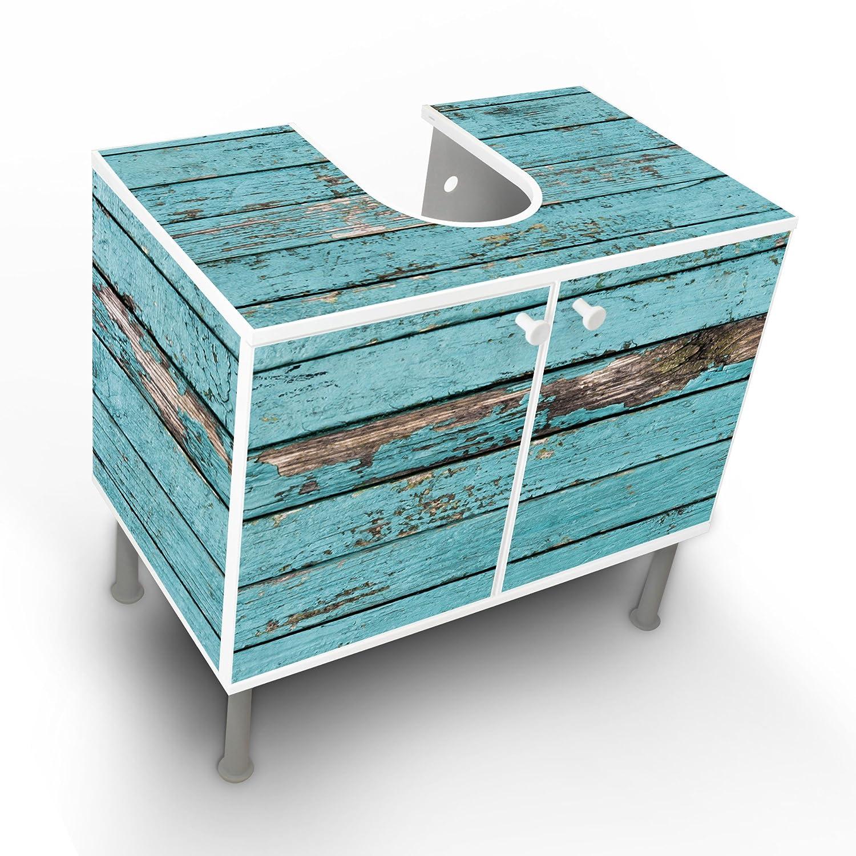 Badmöbel blau  Waschbeckenschrank Unterschrank Badschrank Badmöbel Waschtisch mit ...