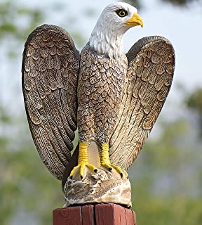 better then Owls! Rotating Attack Eagle Decoy Scares Birds  Wind Driven 4 Each