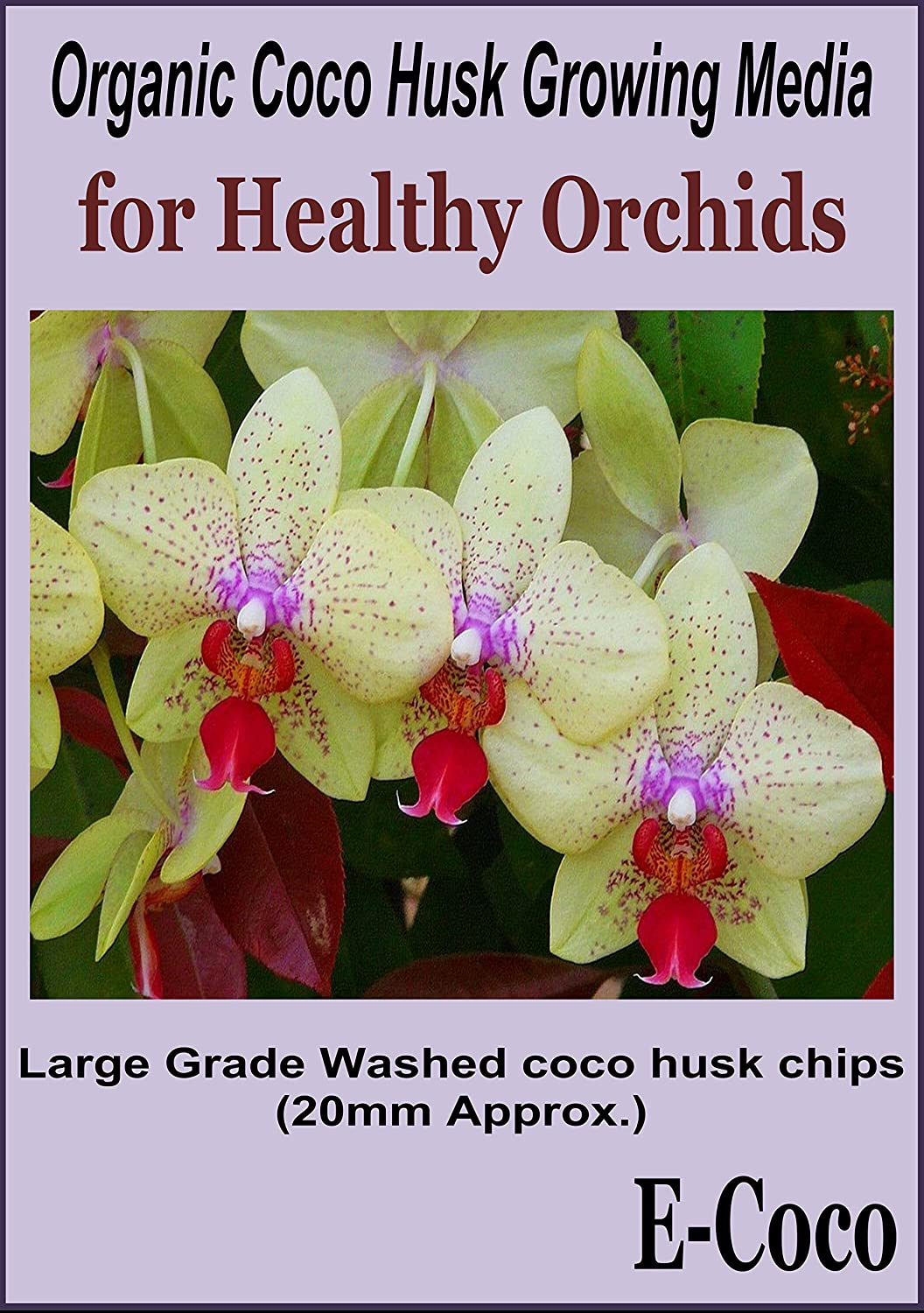 ORCHID COMPOST LARGE GRADE S COCONUT HUSK CHIPS READY TO USE (1 LITRE) E-COCO PRODUCTS UK