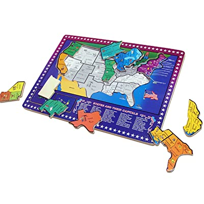 70 %オフ Dazzling Toys USA Map Puzzle | 50 States and ...