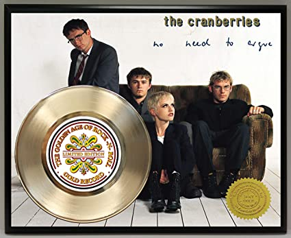 12414d59424c8 G.A.R.R. The Cranberries Gold Record Poster Art Limited Edition  Commemorative Music Memorabilia Display Plaque