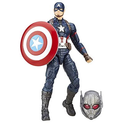 Marvel 6-Inch Legends Series Captain America Figure: Toys & Games