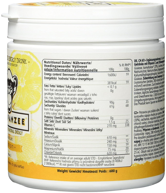 VE 1//Preis PRO Beutel Chimpanzee Gunpowder Energy Drink o Beutel /á 600 g o Zitrone o