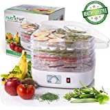 NutriChef Food Dehydrator Machine - Professional Electric Multi-Tier Food Preserver, Meat or Beef Jerky Maker, Fruit & Vegeta