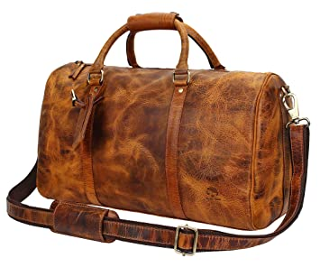 55fa4012dfa5 Image Unavailable. Image not available for. Color  Leather Duffel Bags ...