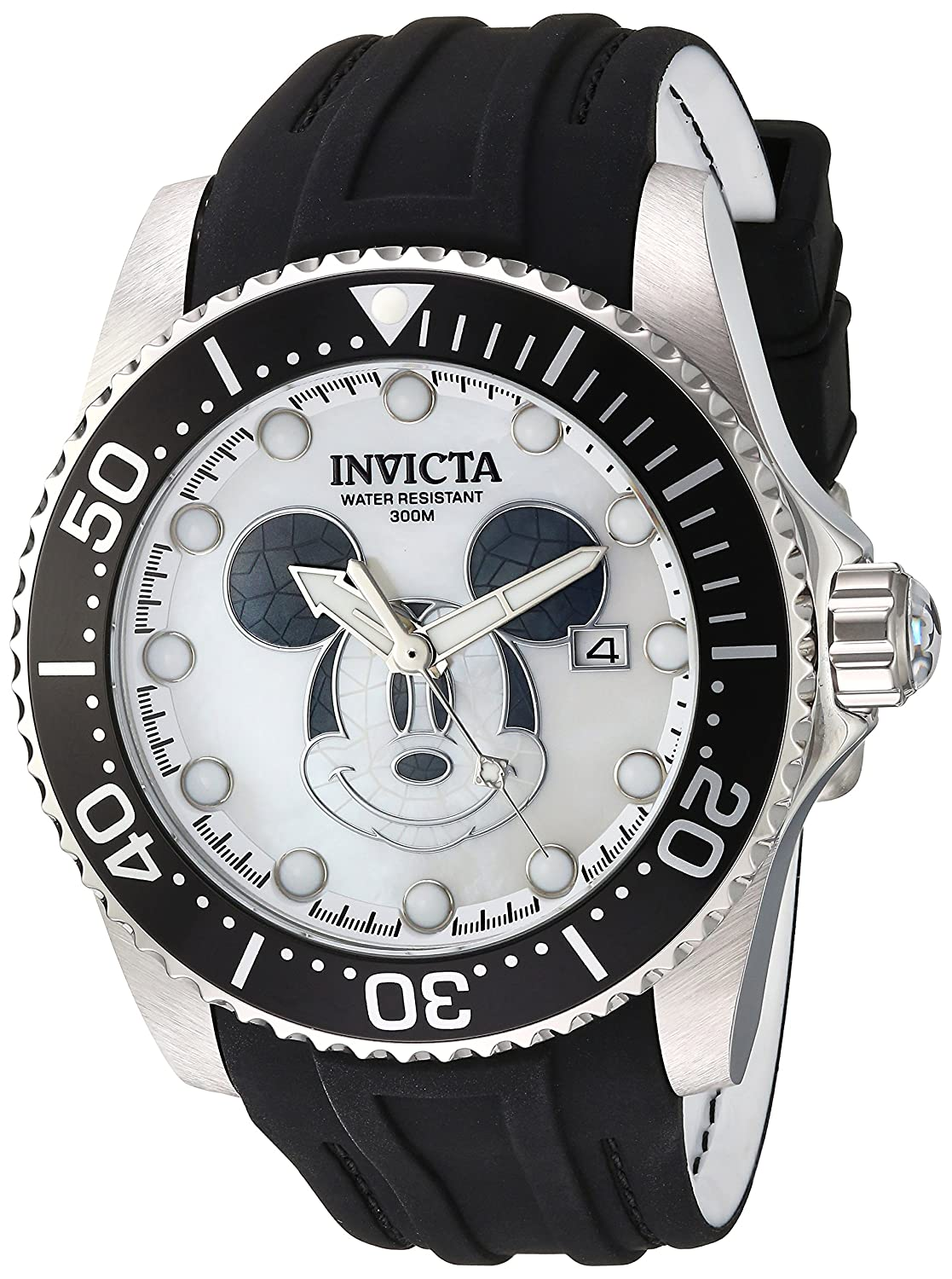 4ee2a08e5fb Amazon.com  Invicta Men s Disney Limited Edition Stainless Steel Automatic-self-Wind  Watch with Silicone Strap