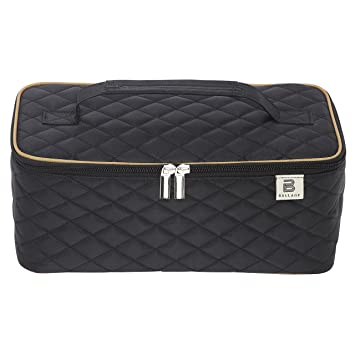 2bb457cda349 Ballage Quilted Makeup Organizer Bag with Mirror To Organize Your Beauty  Tools. Multi Functional Makeup