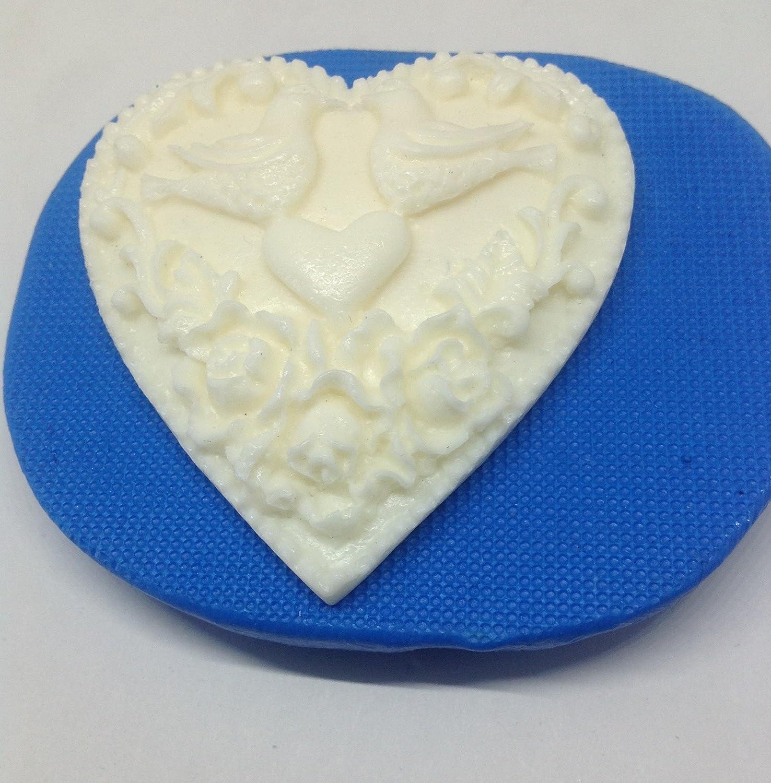 Corazón decorativo pájaros paloma molde de silicona. Decoración. decoration. para tarta de Boda.: Amazon.es: Hogar