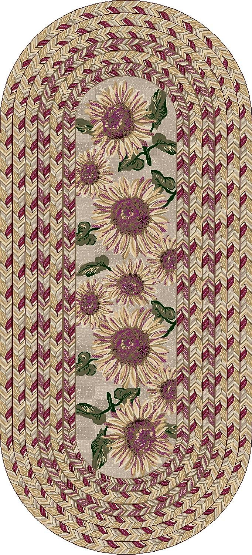 Brumlow Mills Sunflower Braid Kitchen Rug, 20-Inch by 44-Inch, Sunset