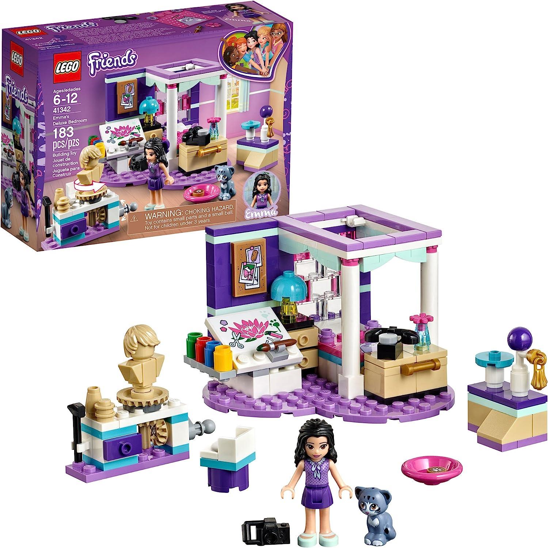 Amazon Com Lego Friends Emma S Deluxe Bedroom 41342 Building Kit 183 Piece Toys Games
