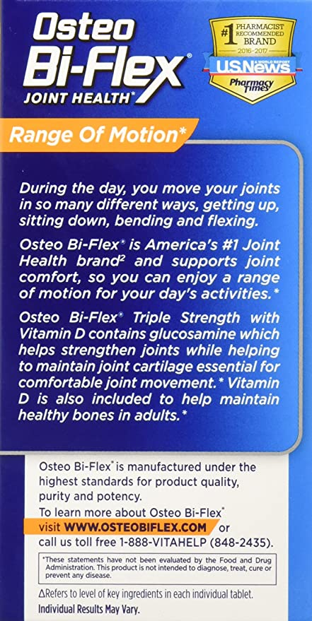 Osteo Bi-Flex Triple Strength w/ Vitamin D, 80 Coated Tablets: Amazon.es: Salud y cuidado personal