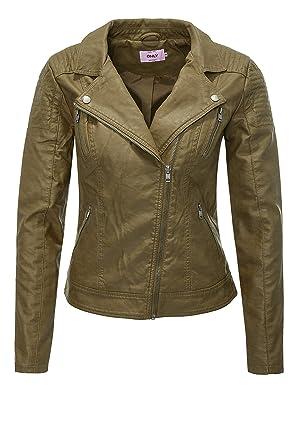6ead8029c2f6 ONLY Damen Jacke Onlsteady Faux Leather Biker Cc OTW  Amazon.de  Bekleidung