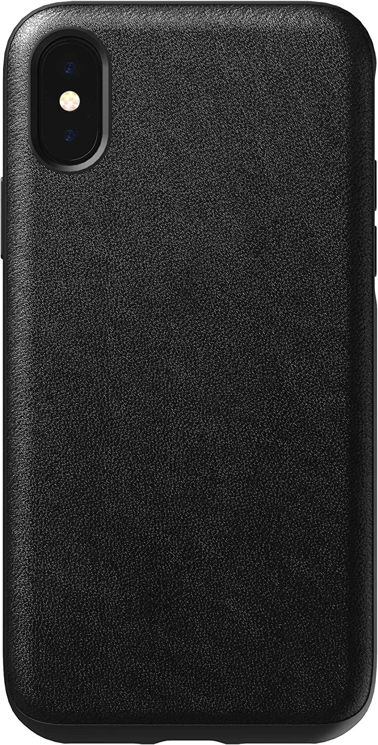 Nomad Rugged Case for iPhone XS | Black Horween Leather