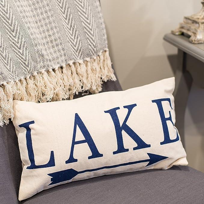 Amazon.com: Lago Dirección flecha 10 x 18 lona decorativo ...