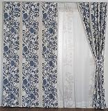スミノエ(Suminoe) 遮光カーテン ブルー 100×178cm クコ 洗える 1枚入 V1305
