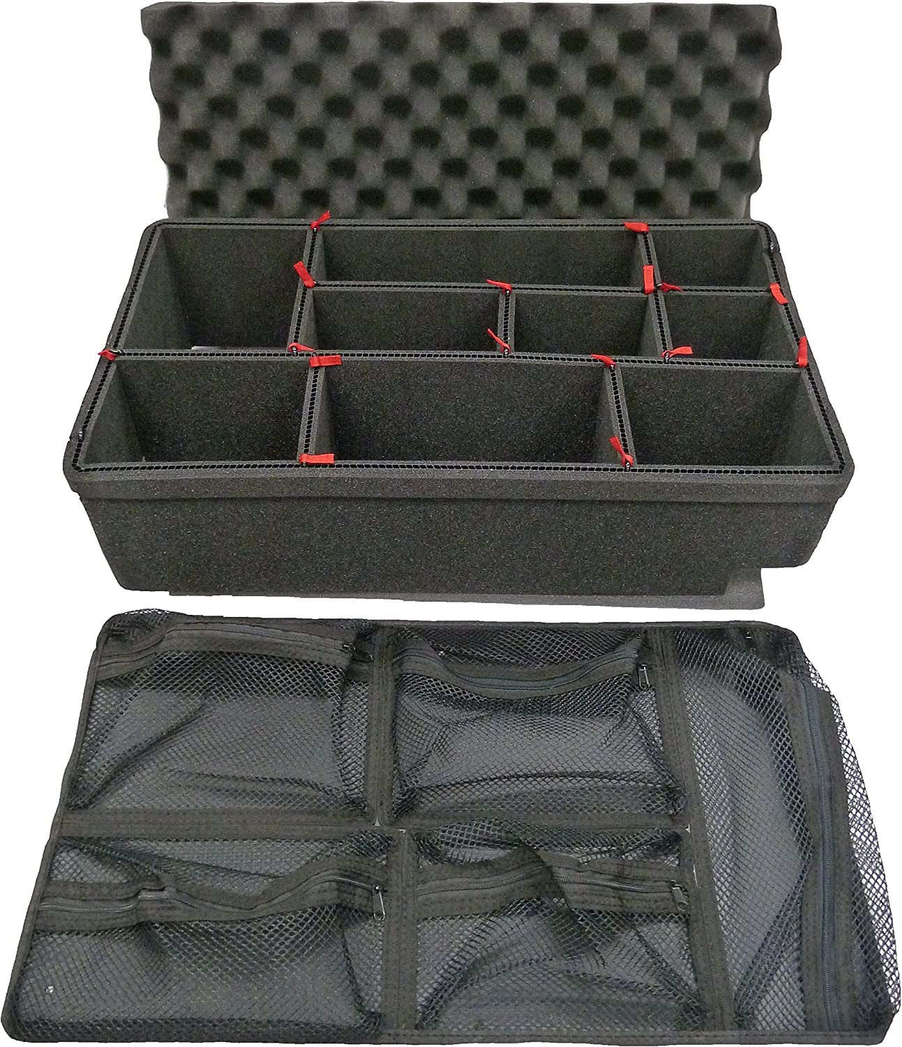 Grey CVPKG Padded dividers to fit The Pelican 1510 case.