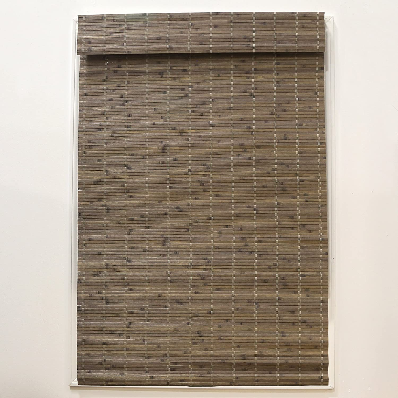 Radiance Cordless Driftwood Dockside Flatstick Bamboo Roman Shade