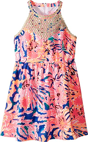 16bb19493025 Lilly Pulitzer Kids Baby Girl s Kinley Dress (Toddler Little Kids Big Kids)