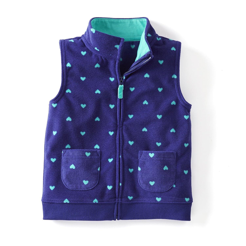 Carter's Baby Girl Blue & Turquoise Fleece Zip-up Vest