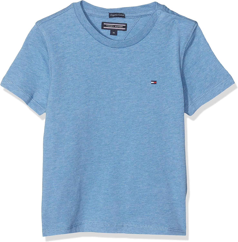 Tommy Hilfiger T Camiseta B/ásica de Manga Corta para Ni/ños