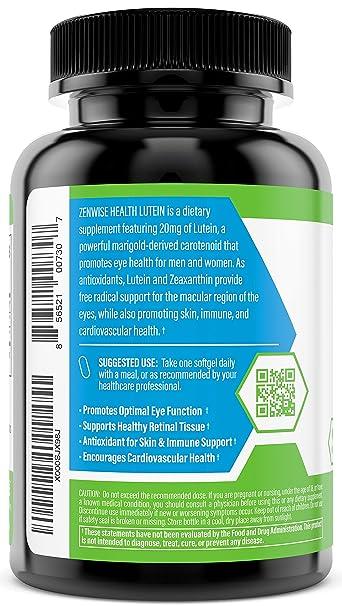 Amazon.com: Luteína 20 mg Suplemento vitamínico ...