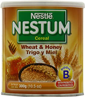 Nestle Nestum Cereal, Wheat and Honey, 10.5-Ounce Container (Pack of 6