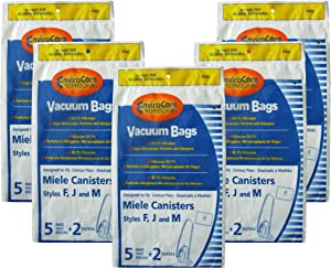 EnviroCare Replacement Anti-Allergen Vacuum Cleaner Dust Bags Made to fit Miele F,J,M Canisters 25 Pack with 10 Filters
