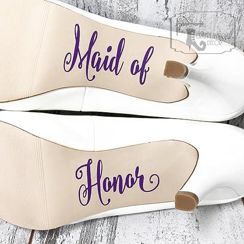 ba962e7f8231c Amazon.com: Maid of Honor Wedding Shoe Decals, High Heel Decals ...