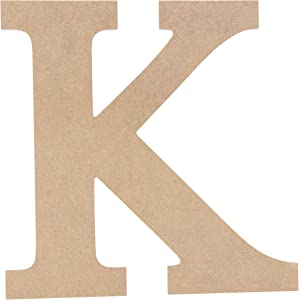 Juvale Unfinished Wooden Letters, Greek Letter K for Kappa (11.6 in.)