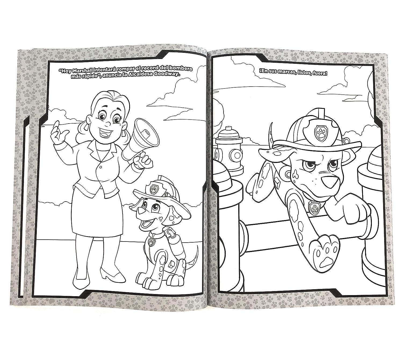 Paw Patrol Libro Para Colorear 80 Páginas Incluye Todos Los Personajes De La Pandilla Ryder Marshall Chase Rubble Rocky Zuma Skye Everest Y