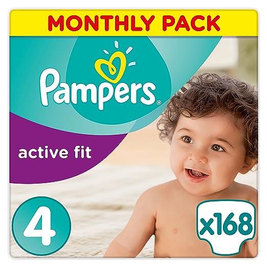 36 opinioni per Pampers Active Fit Premium Protection, 168 Pannolini, Taglia 4 (8-16kg)