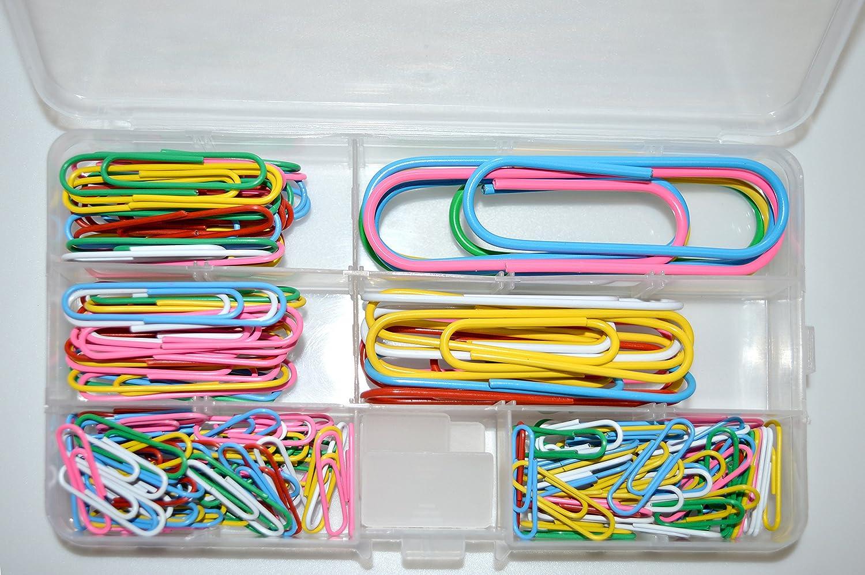 100 Büroklammern Briefklammern 33 mm  farbig  NEU