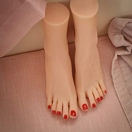 JUYO VONSAN Silicone Mannequin Female Foot 1 Pair 9.1 inches for Shoe Sock Jewerly Display