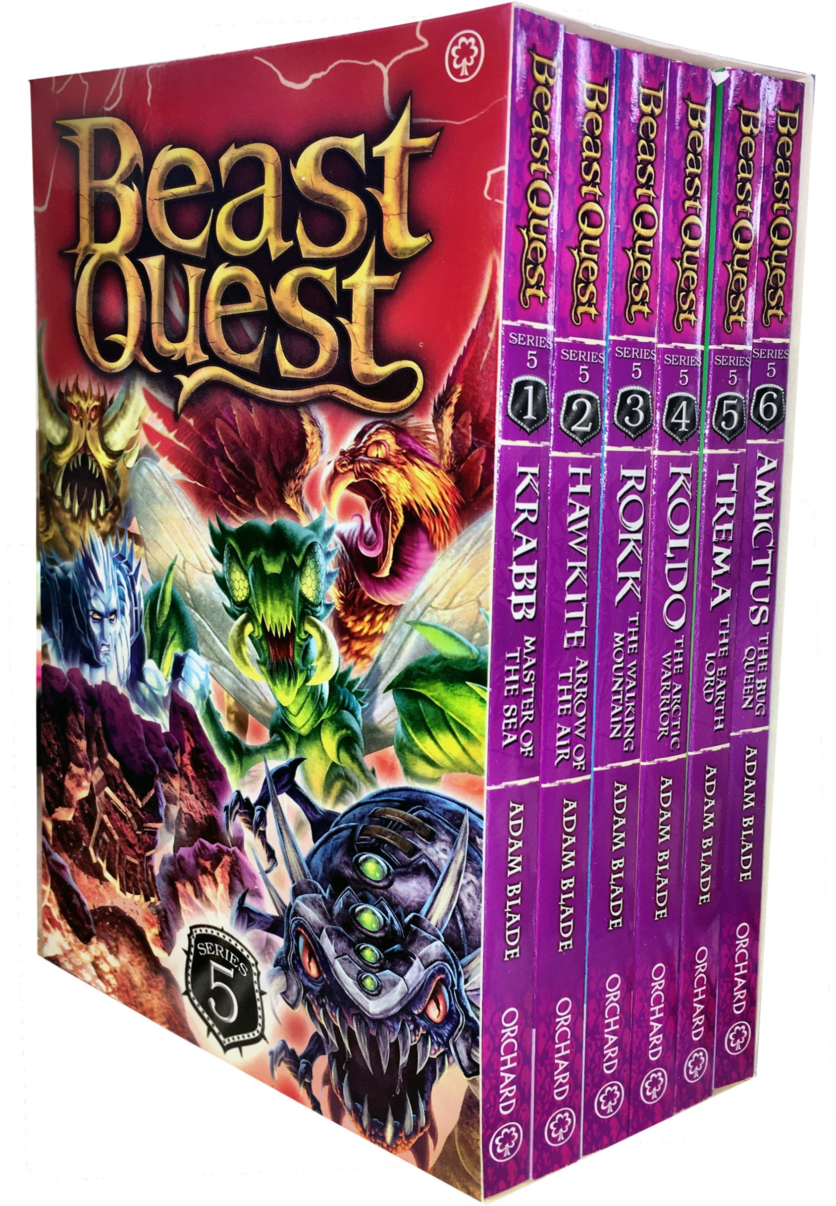 Read Online Beast Quest Series 5 The Shade of Death 6 Books Collection Box Set by Adam Blade pdf epub