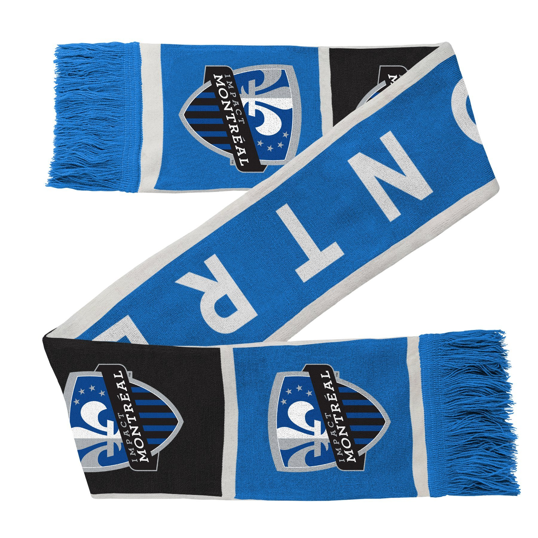 Outerstuff MLS Montreal Impact R S8FDW Youth Boys Fringe Scarf, One Size (8), Strong Blue