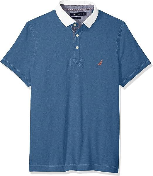 Nautica Hombre K82528 Manga Corta Camisa Polo - Azul - Medium ...
