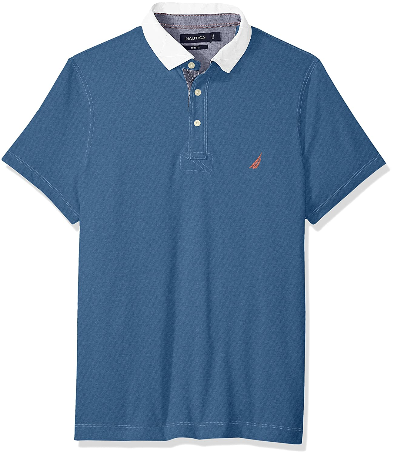Vintage Shirts – Mens – Retro Shirts Nautica Mens Short Sleeve Slim Fit Vintage Heritage Look Polo Shirt $69.50 AT vintagedancer.com