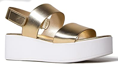 80f6ce4865 Amazon.com | J. Adams Casey Platform Sandal - Comfortable Double Band Ankle  Strap Flatforms | Platforms & Wedges