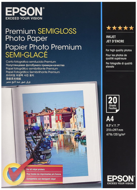 Epson S041332 Carta Fotografica, Confezione da 20 Pezzi C13S041332