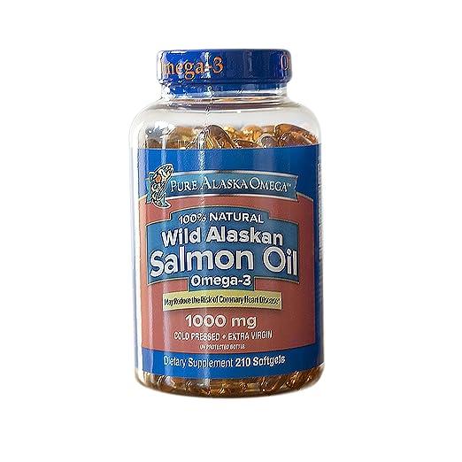 Pure alaska omega - 3: viên bổ sung omega 3, dha, epa giúp não phát triển từ dầu cá hồi tự nhiên, 210 viên