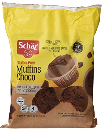 Dr. Schar Muffin Choco Magdalenas - Paquete de 4 x 65 gr - Total: