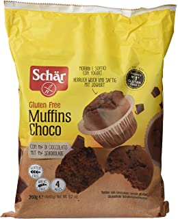 Dr. Schar Muffin Choco Magdalenas - Paquete de 4 x 65 gr - Total: