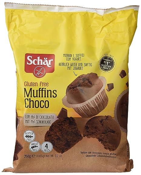 Dr. Schar Muffin Choco Magdalenas - Paquete de 4 x 65 gr ...