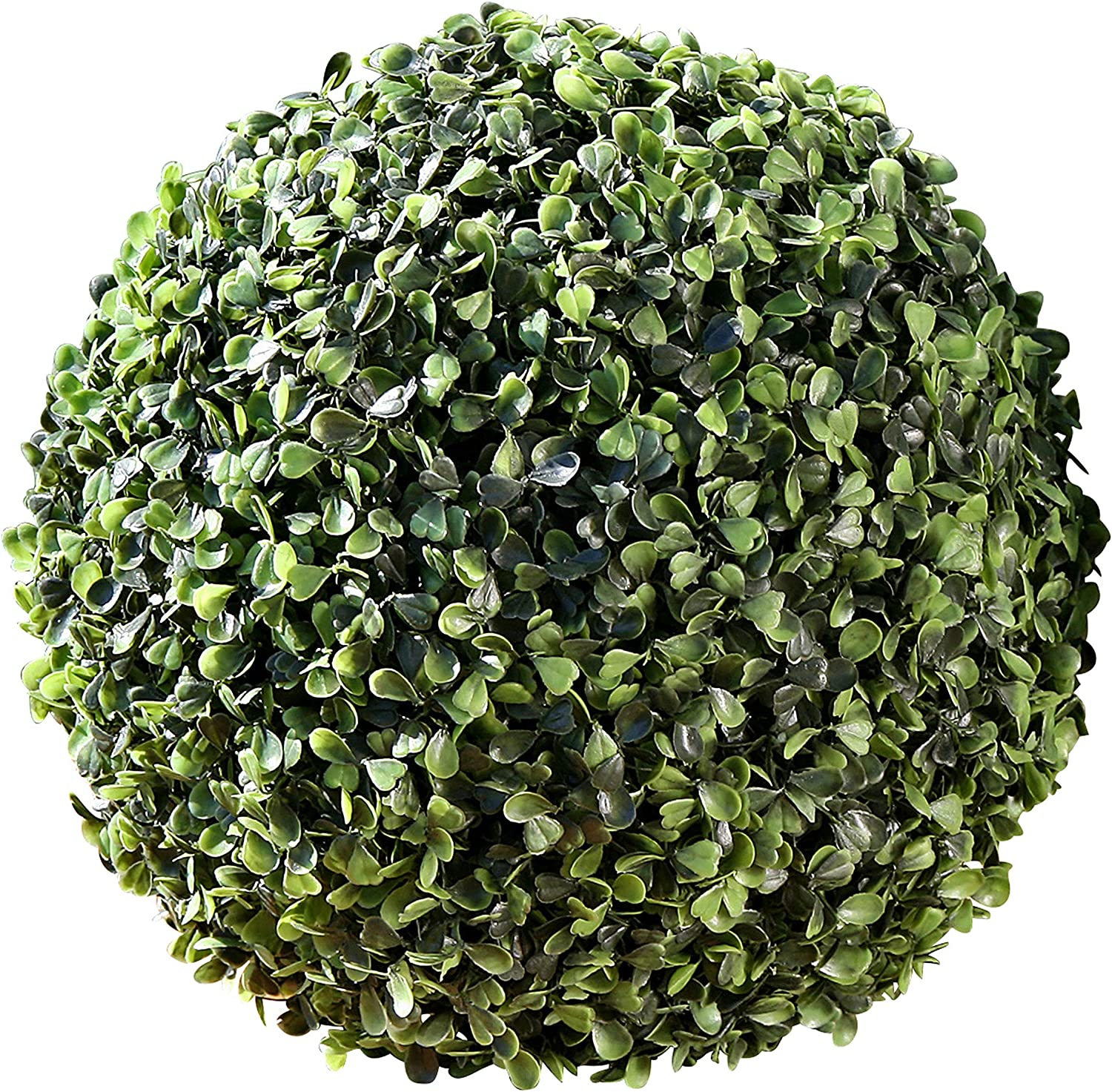 WHW Whole House Worlds Grammercy Boxwood Ball, 9 inch, Lush Green, Bowl Filler Globe, Faux Boxwood Leaves, Topiary, Plastic