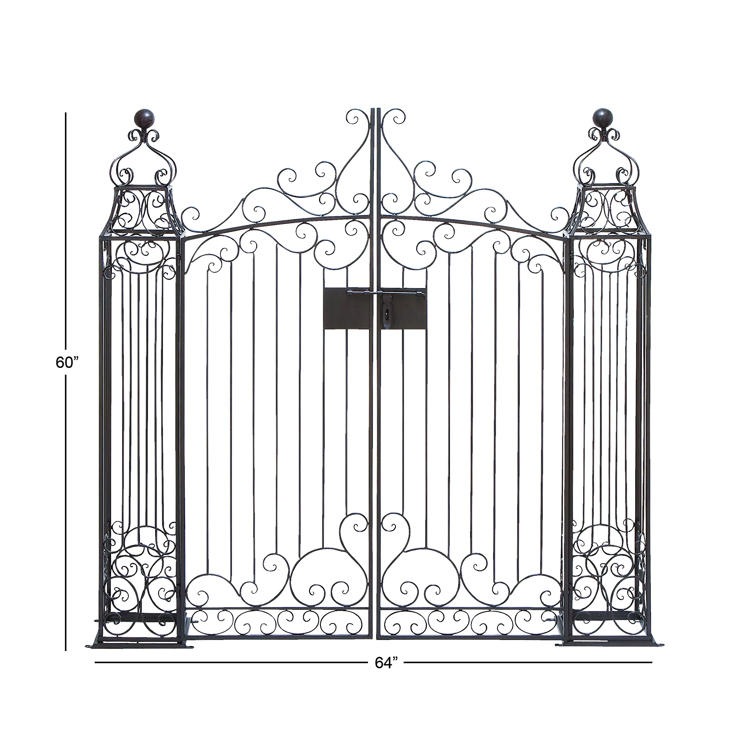 Deco 79 41391 Metal Garden Gate, 64 by 60-Inch by Deco 79
