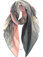 GERINLY Lightweight Scarves: Fashion Lace Print Shawl Wrap For Women
