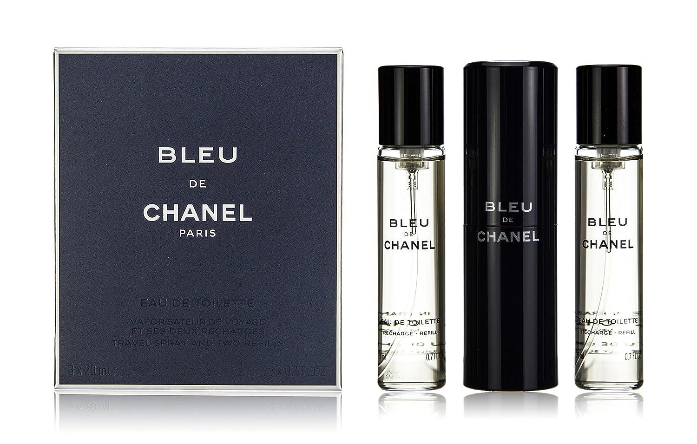 e1d7c2a4cf Chanel Bleu De Chanel Eau De Toilette Travel Spray & Two Refills 3x20ml
