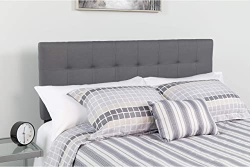 Flash Furniture Bedford Tufted Upholstered Queen Size Headboard in Dark Gray Fabric - HG-HB1704-Q-DG-GG