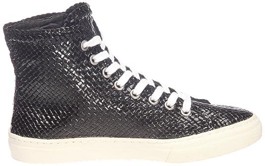 Yves Desfarge Didon-Tressé noir - Zapatillas de cuero para mujer, color negro, talla 37